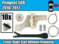 Window Regulator  Repair Kit For PEUGEOT 508 SALOON  Front Right Fastener Clips